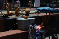 This was a basket maker on the Riverwalk.