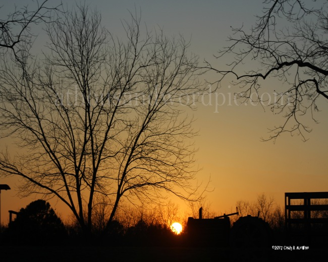 WATERMARKED Sunset on the Farm posted